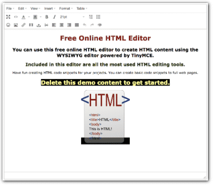 Edit HTML Online - About our Free Online HTML Editor